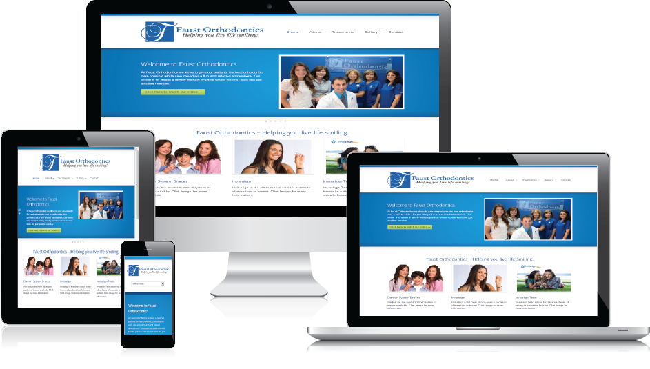 Dental practice website design services by Smile Marketing Pros